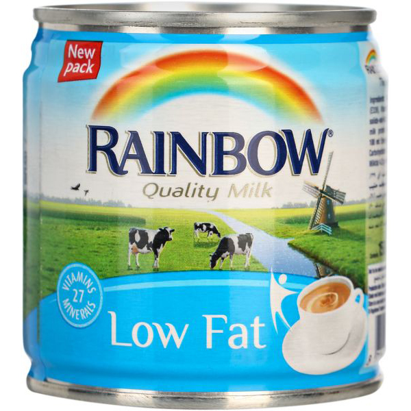 Rainbow Low-Fat Evaporated Milk - 160ml (pkt/6pcs)