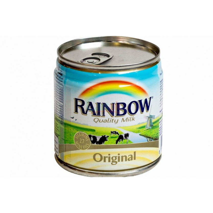 Rainbow Original Evaporated Milk Full Cream - 160ml (pkt/6pcs)