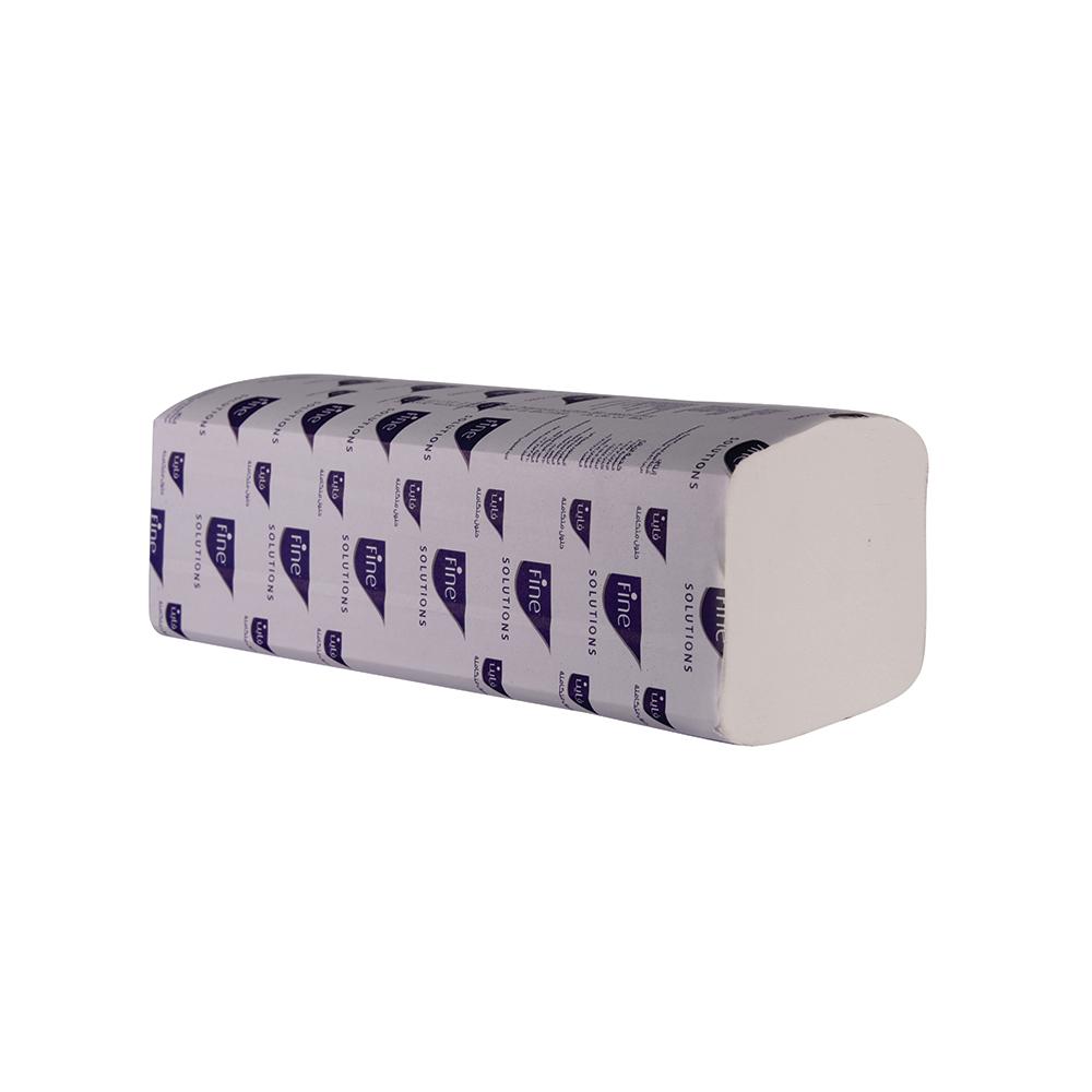 Fine Interfold Hand Towel 21 x 24cm - White (box/20pkt)