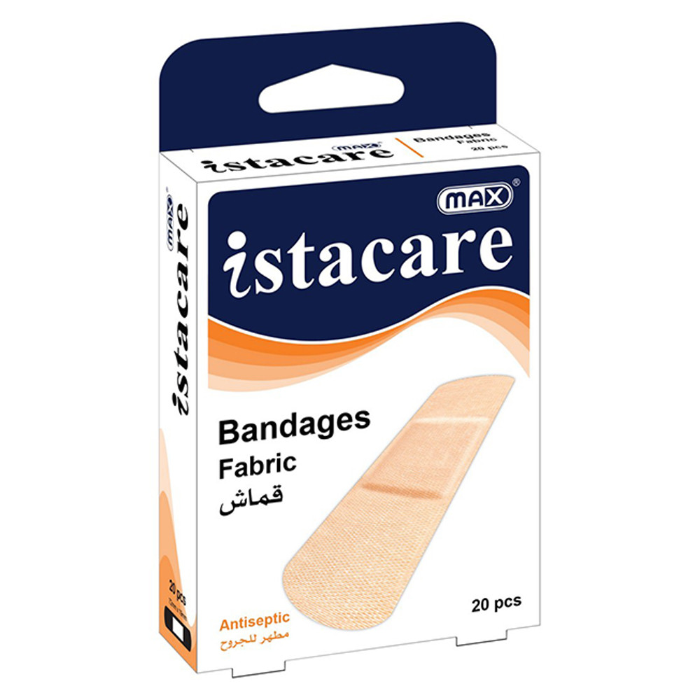 Max Istacare Bandages 72mm x 19mm - Fabric (box/20pcs)