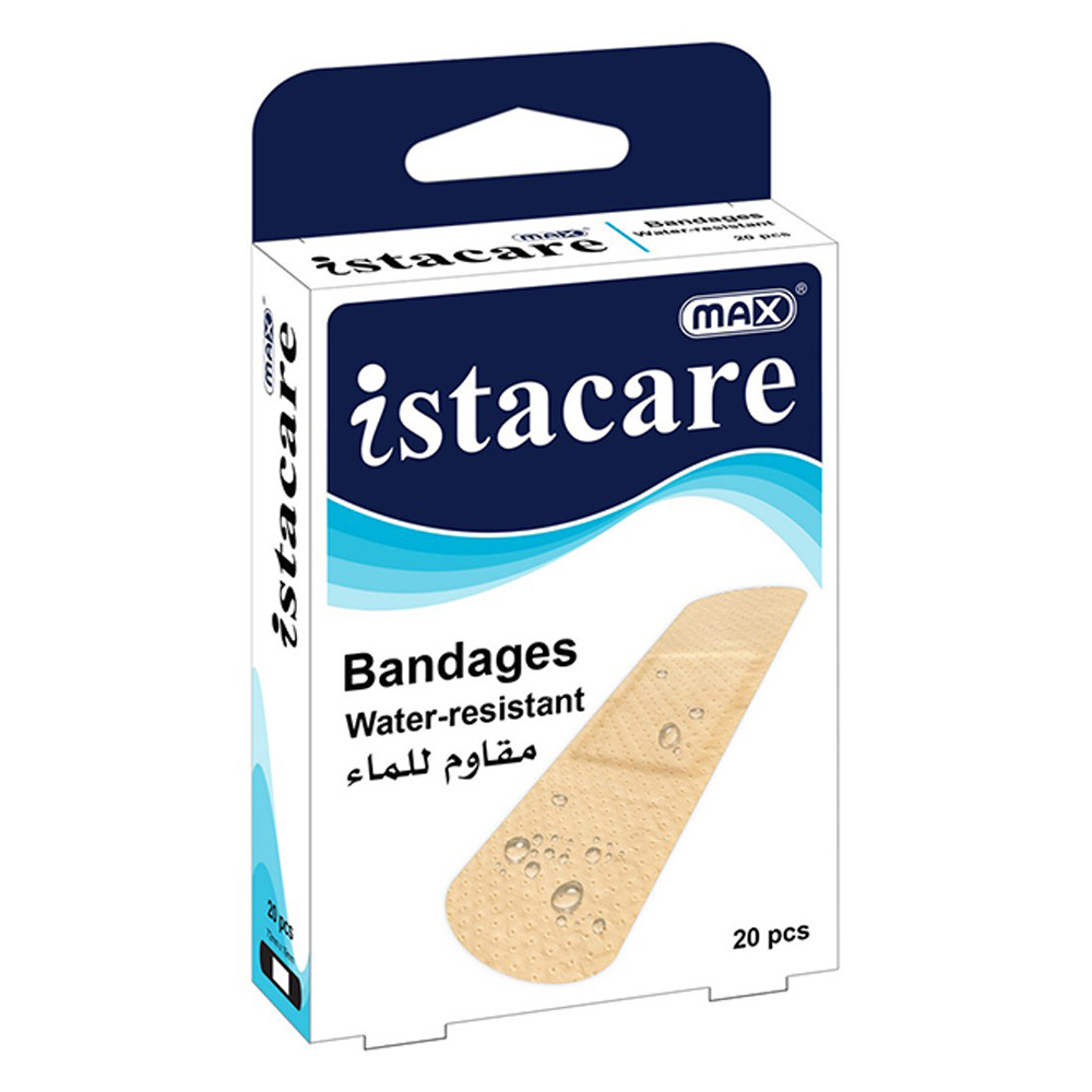 Max Istacare Bandages 72mm x 19mm - Water-Resistant (box/20pcs)