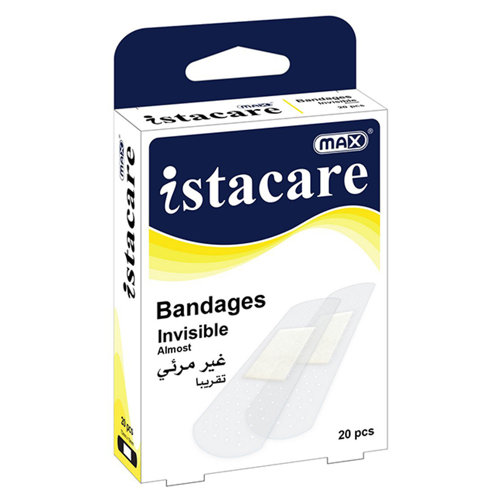 Max Istacare Bandages 72mm x 19mm - Transparent (box/20pcs)