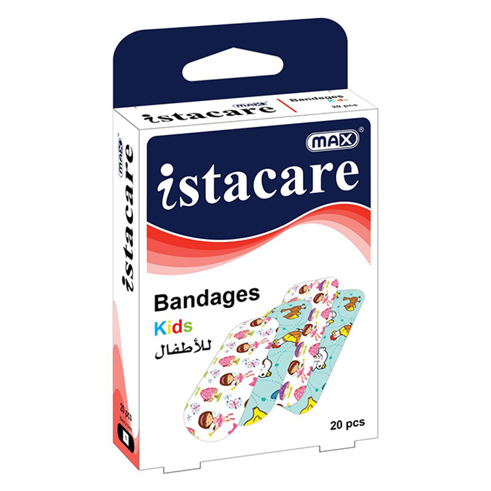 Max Istacare Bandages 55mm x 19mm - Kids (box/20pcs)