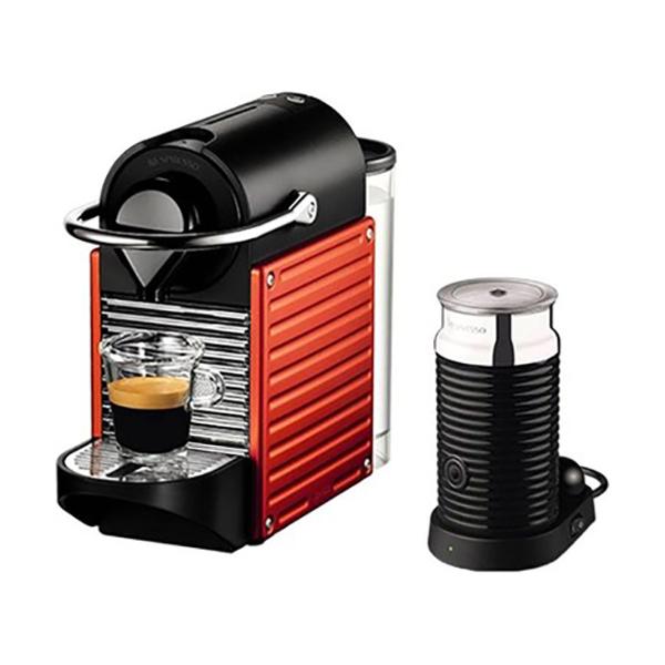 Nespresso Pixie Bundle Coffee Machine - Red