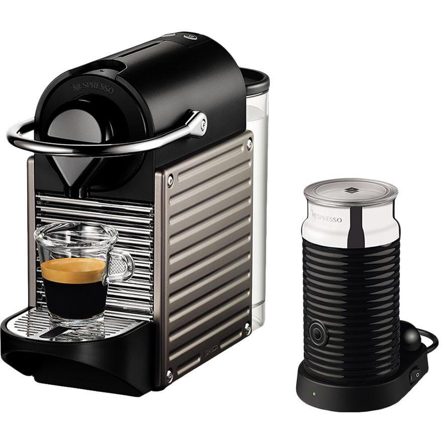 Nespresso Pixie Bundle Coffee Machine - Titanium