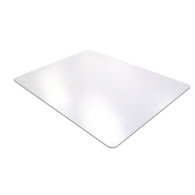Floortex Desktex PVC Smooth Back Embossed Surface Desk Mat 43cm x 56cm FPDE1722V - Clear (pc)