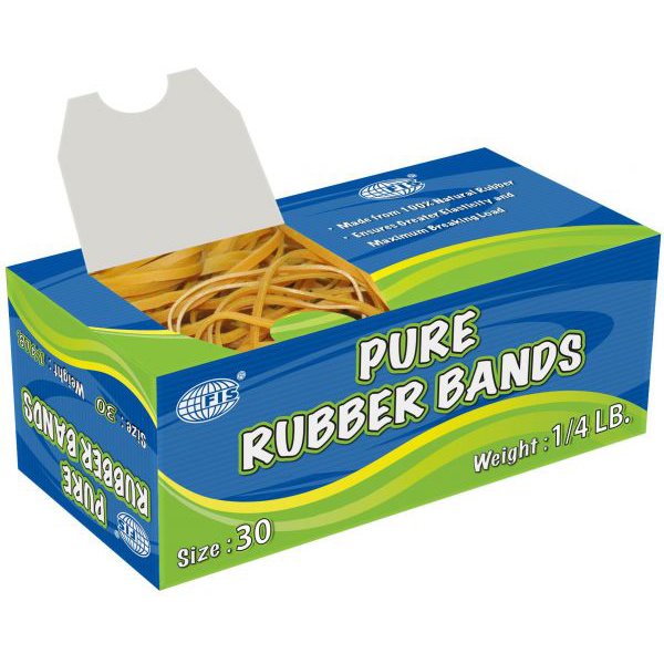 FIS No. 30 Pure Rubber Band 1/4lb - FSRB30 (pkt)