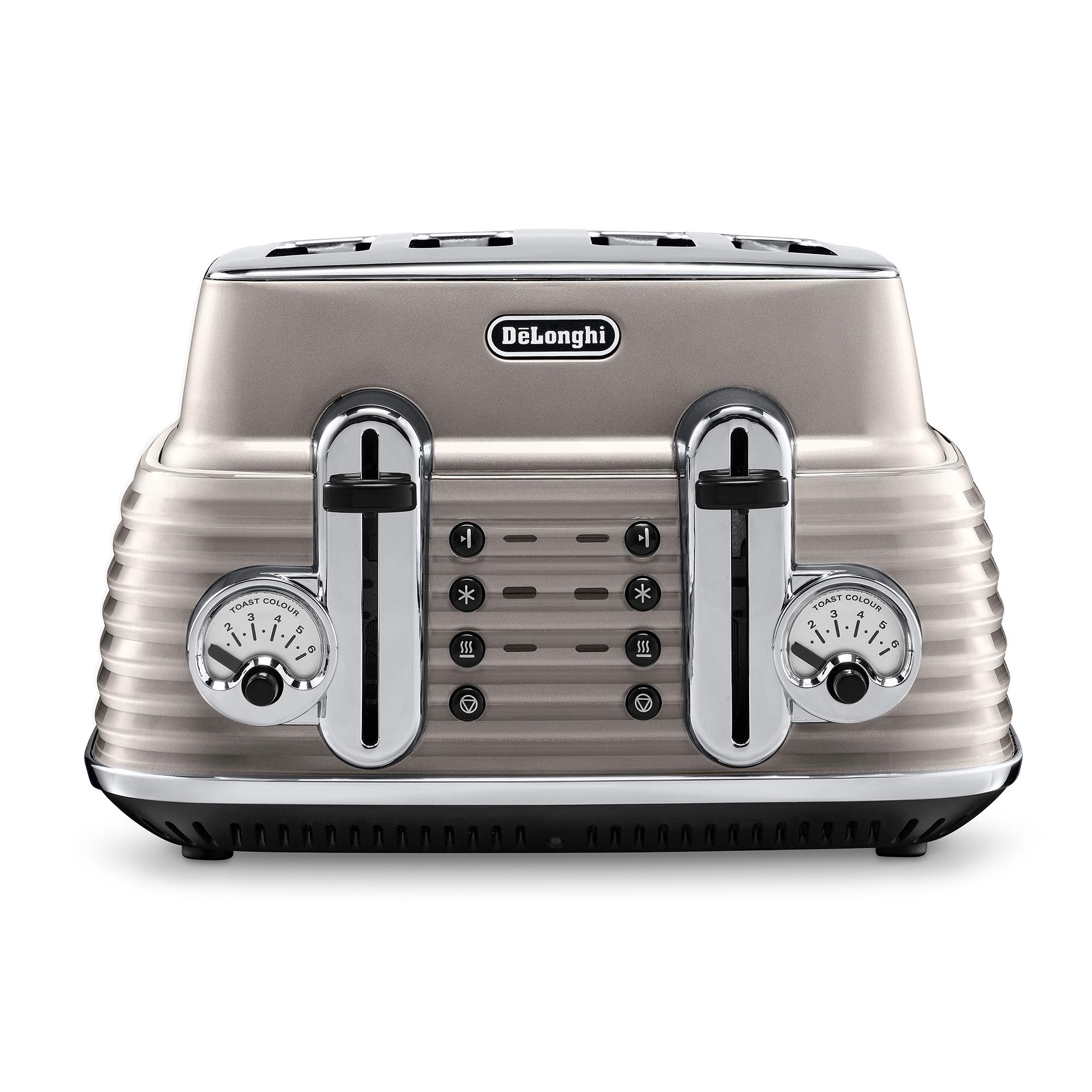 De'Longhi Scultura 4 Slice Toaster CTZ4003.BG - Beige
