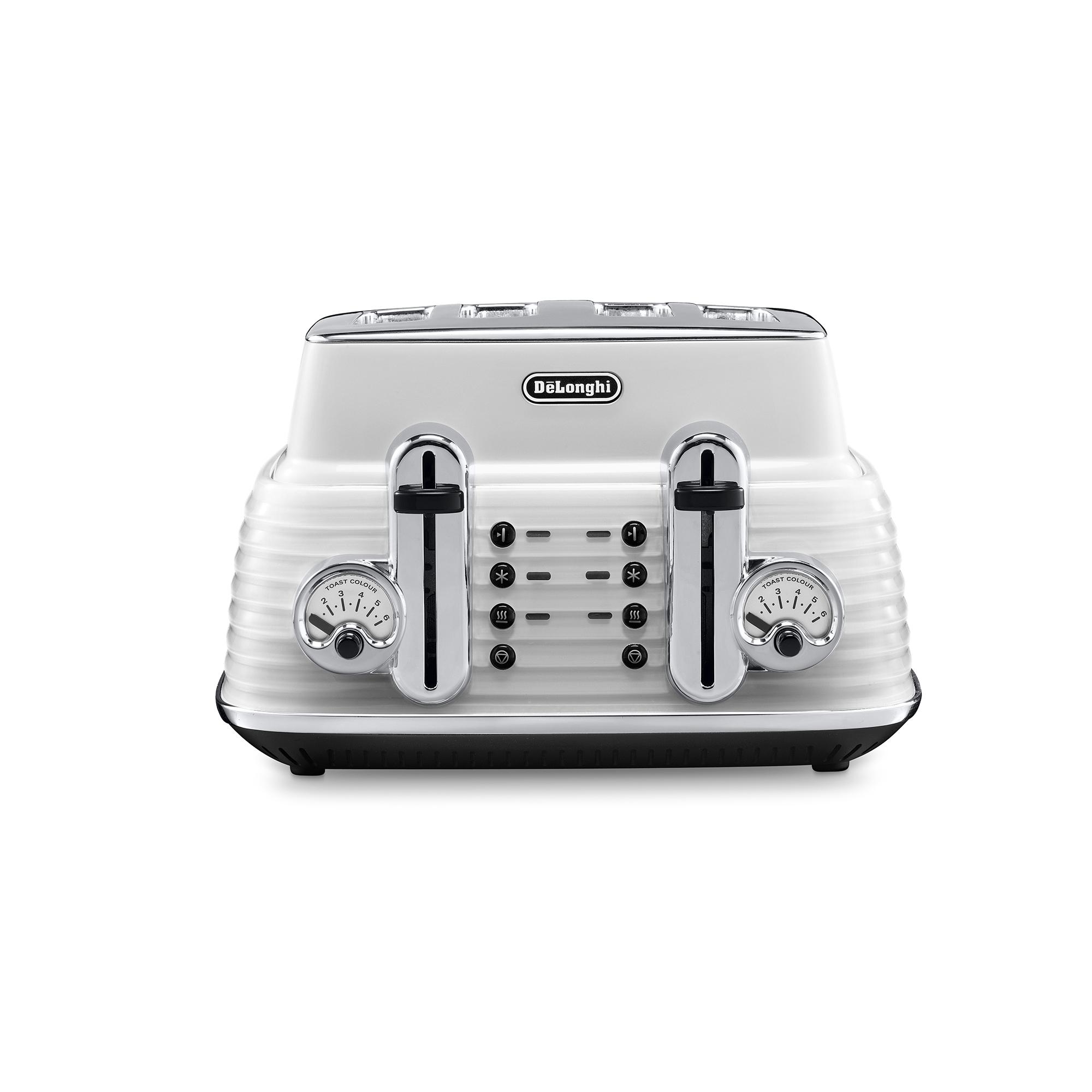 De'Longhi Scultura 4 Slice Toaster CTZ4003.W - White