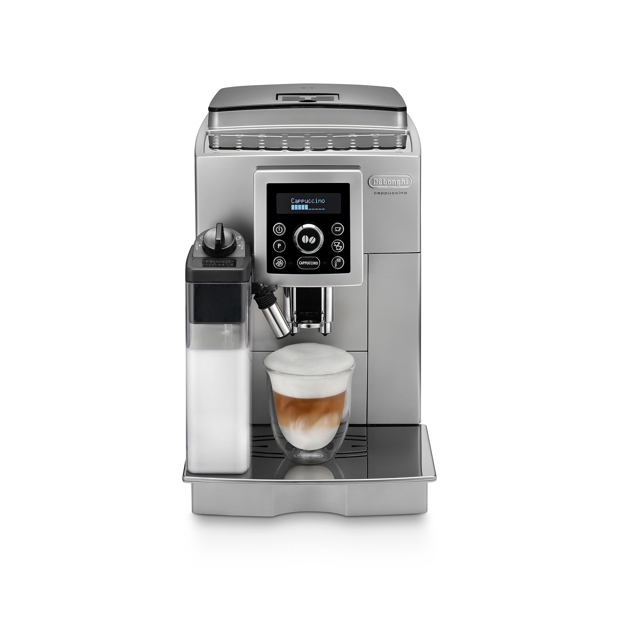 De'Longhi Fully Automatic Compact Bean-To-Cup Coffee Machine ECAM23.460.S - Silver