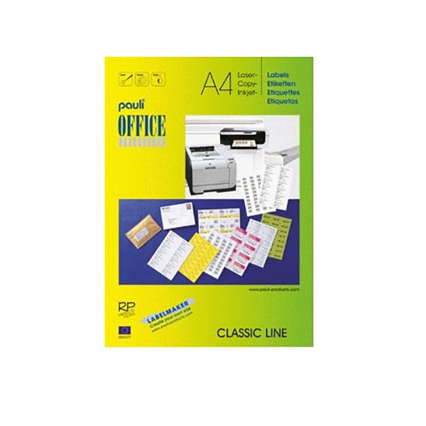 Pauli 10548 Label Sticker A4 - 105 x 48mm (pkt/100s)