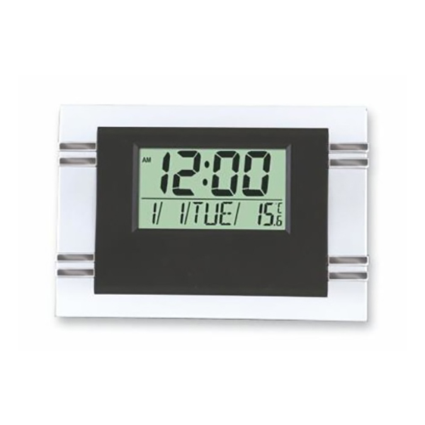 Kenko KK-6869 Desk Clock with Stand - Black/Grey (pc)