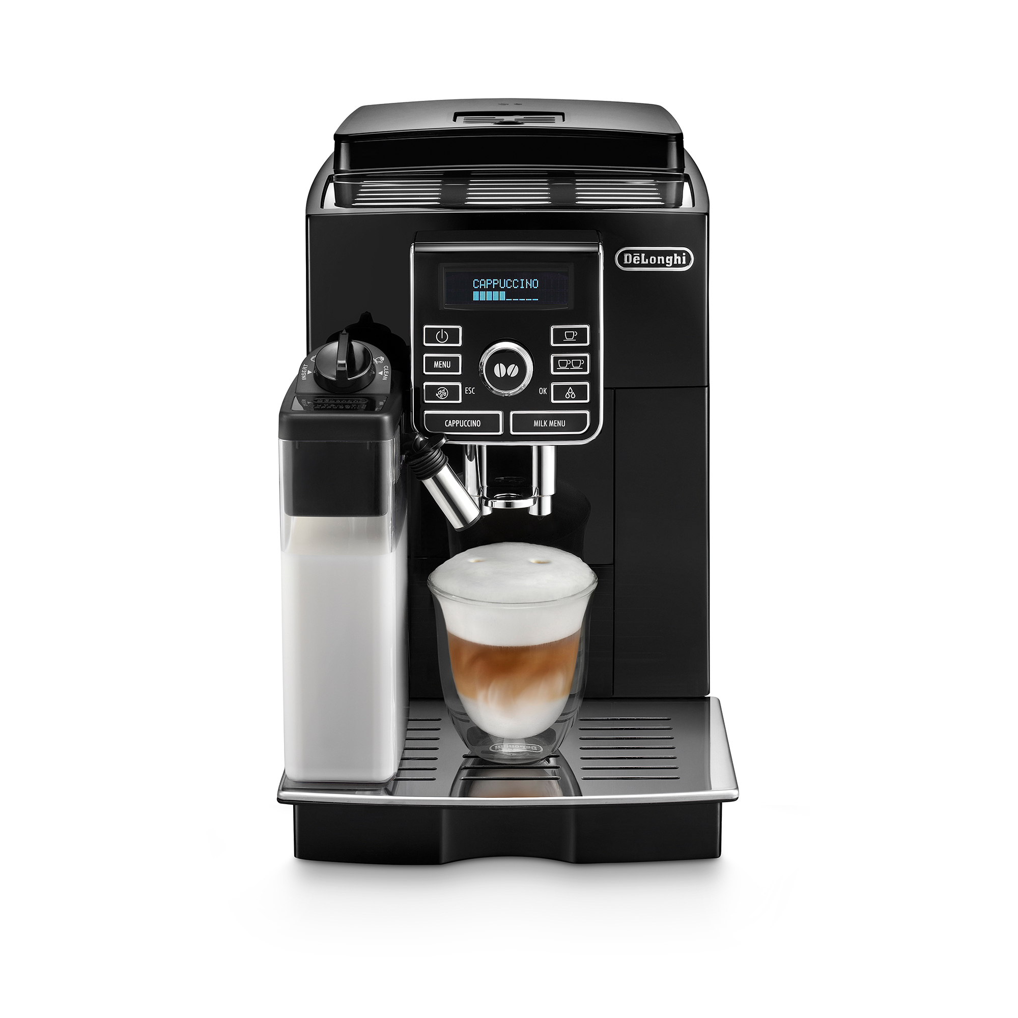 De'Longhi Fully Automatic Bean-To-Cup Coffee Machine ECAM25.462.B - Black