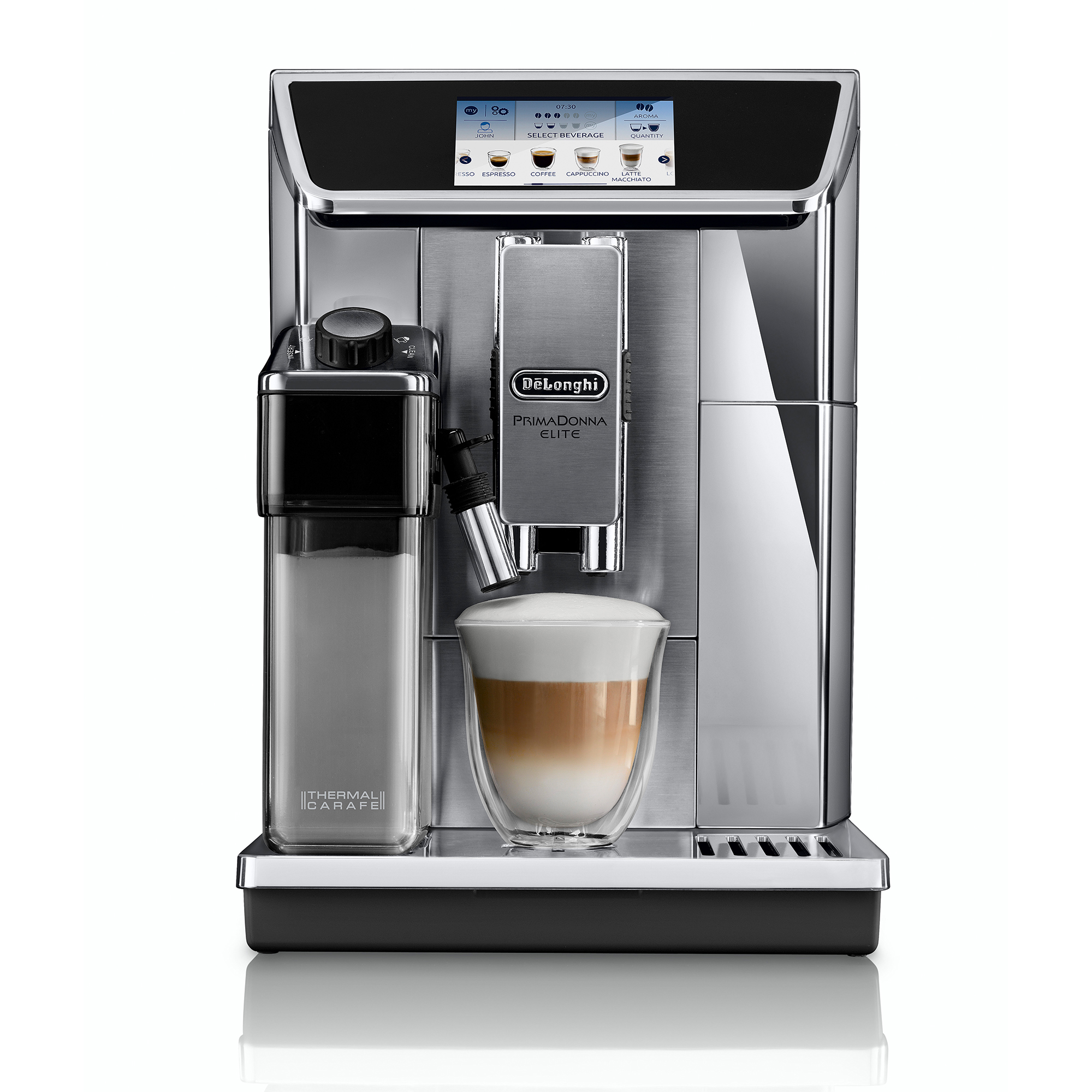De'Longhi PrimaDonna Elite ECAM 650.75.MS Coffee Machine - Silver