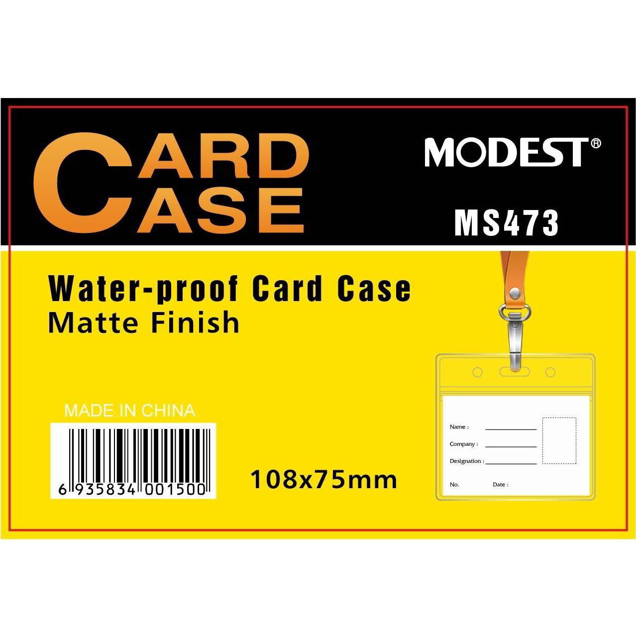 Modest MS-473 Matte Finish Horizontal Card Case without Lanyard - 108 x 75mm (pkt/10pcs)