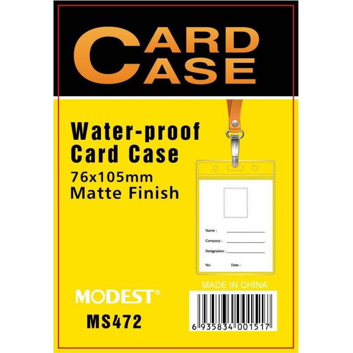 Modest MS-472 Matte Finish Vertical Card Case without Lanyard - 76 x 105mm (pkt/10pcs)