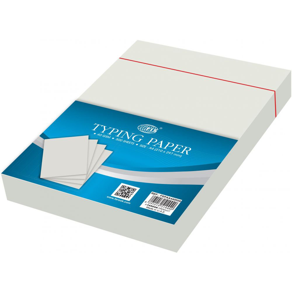 FIS Typing Paper 40gsm A4 - FSPAA440500 (ream/500s)