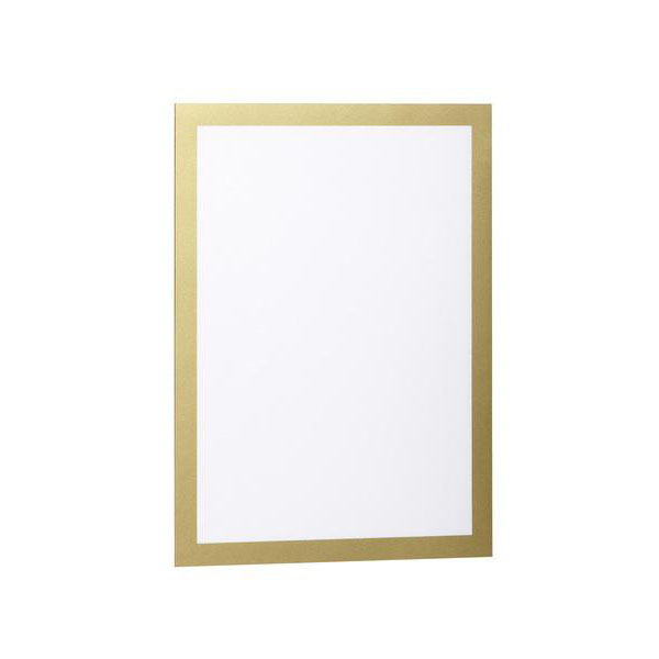 Durable DUMF4872-30 Duraframe Self-Adhesive Magnetic Frame A4 - Gold (Pkt/2pc)
