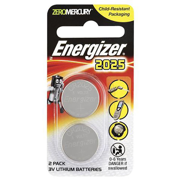 Energizer CR2025 Lithium Battery (pkt/2pcs)