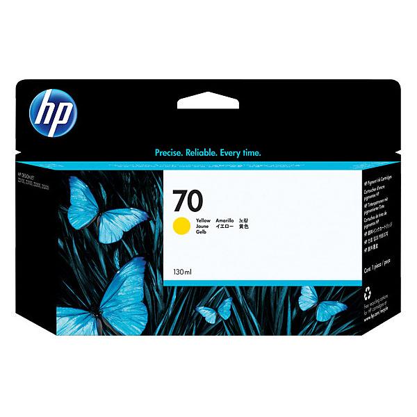 HP 70 Ink Cartridge 130ml (C9454A) - Yellow