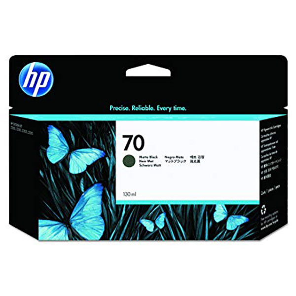 HP 70 Ink Cartridge 130ml (C9448A) - Matte Black