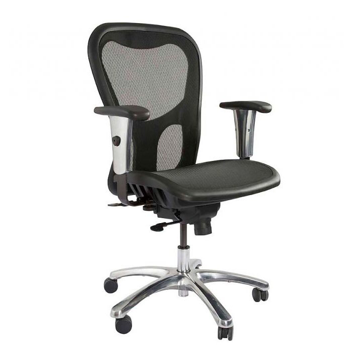 Mahmayi MOF-TA93566 Medium Back Ergonomic Mesh Chair - Black (pc)