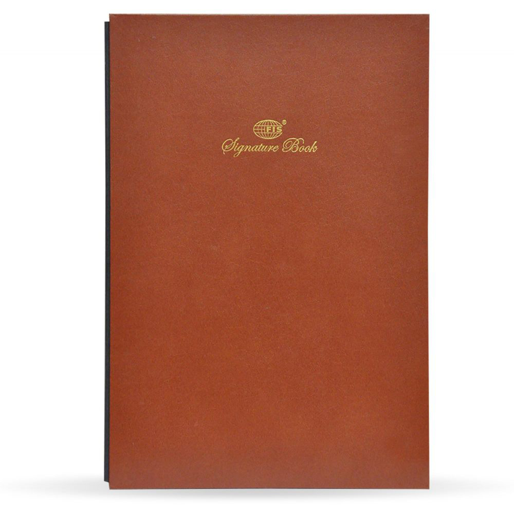 FIS Signature Book Vinyl Cover 20 Sheets (10 Assorted Colors) 240 x 340mm FSCL20-10C - Brown (pc)