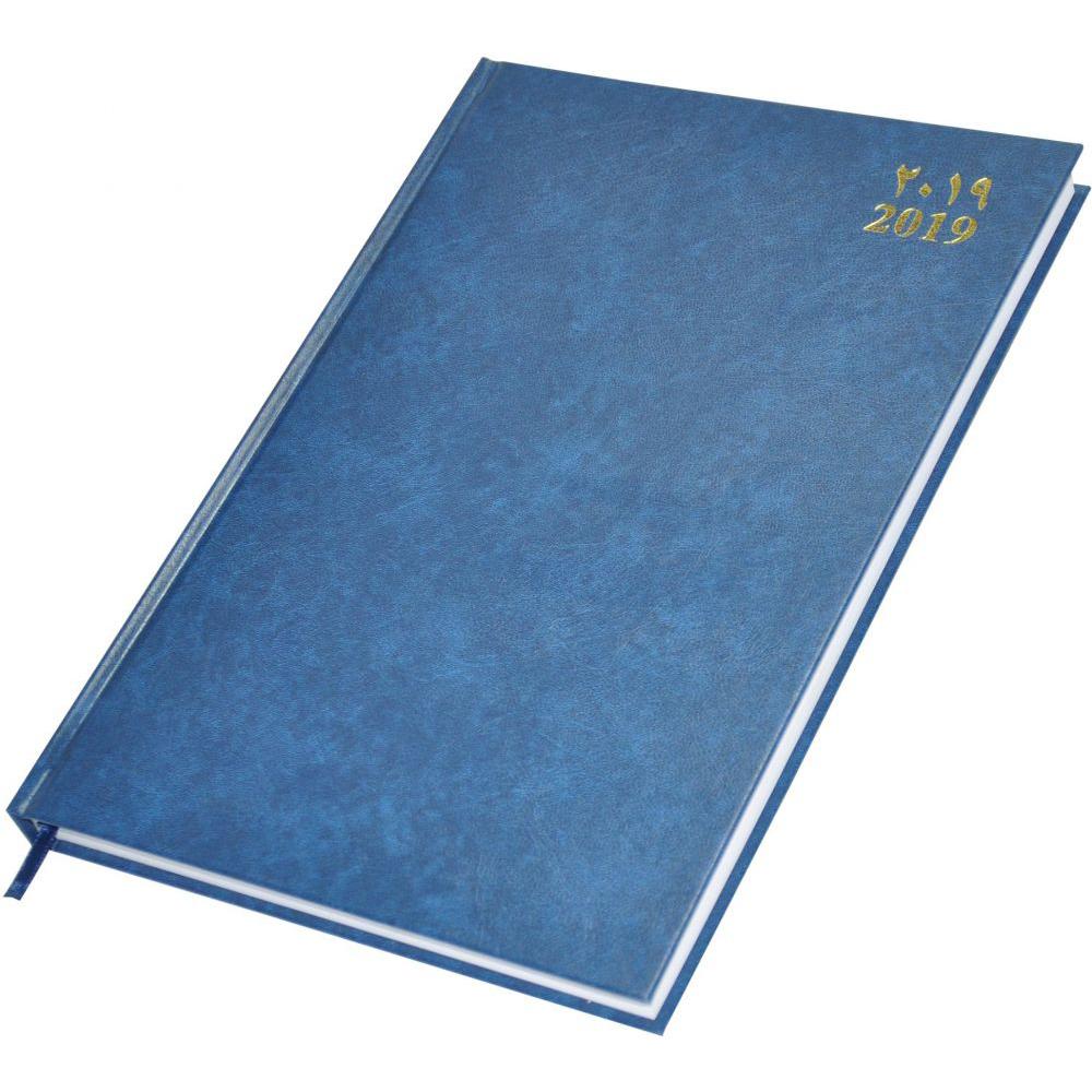 FIS 2019 Diary Vinyl Hard Cover (Arabic/English) A4 FSDI41AE19BL - Blue (pc)
