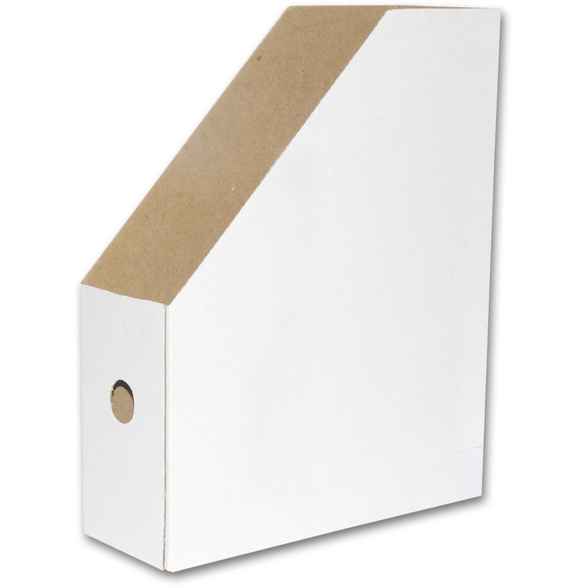FIS FSOTMA4 Cardboard Magazine Holder - White (pc)