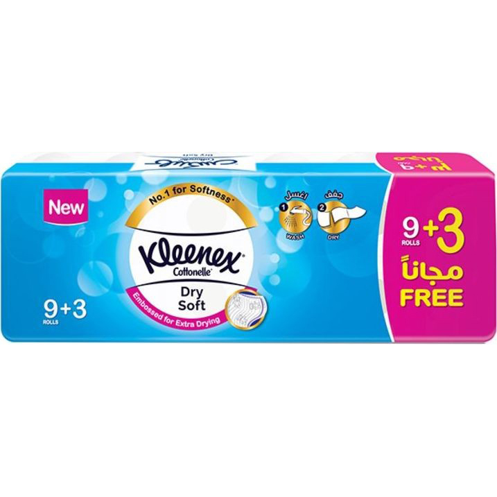 Kleenex Cotonelle Dry Soft Toilet Tissue - 200 sheets x 2 ply (pkt/12rolls)