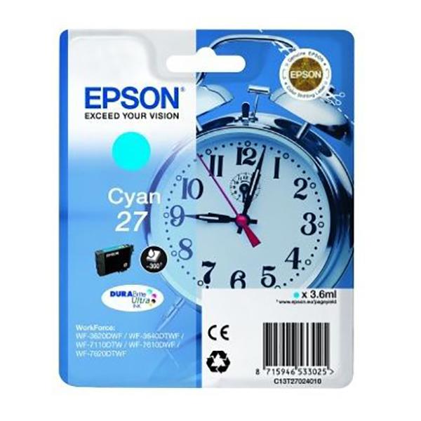 Epson 27 Ink Cartridge (T2702) - Cyan