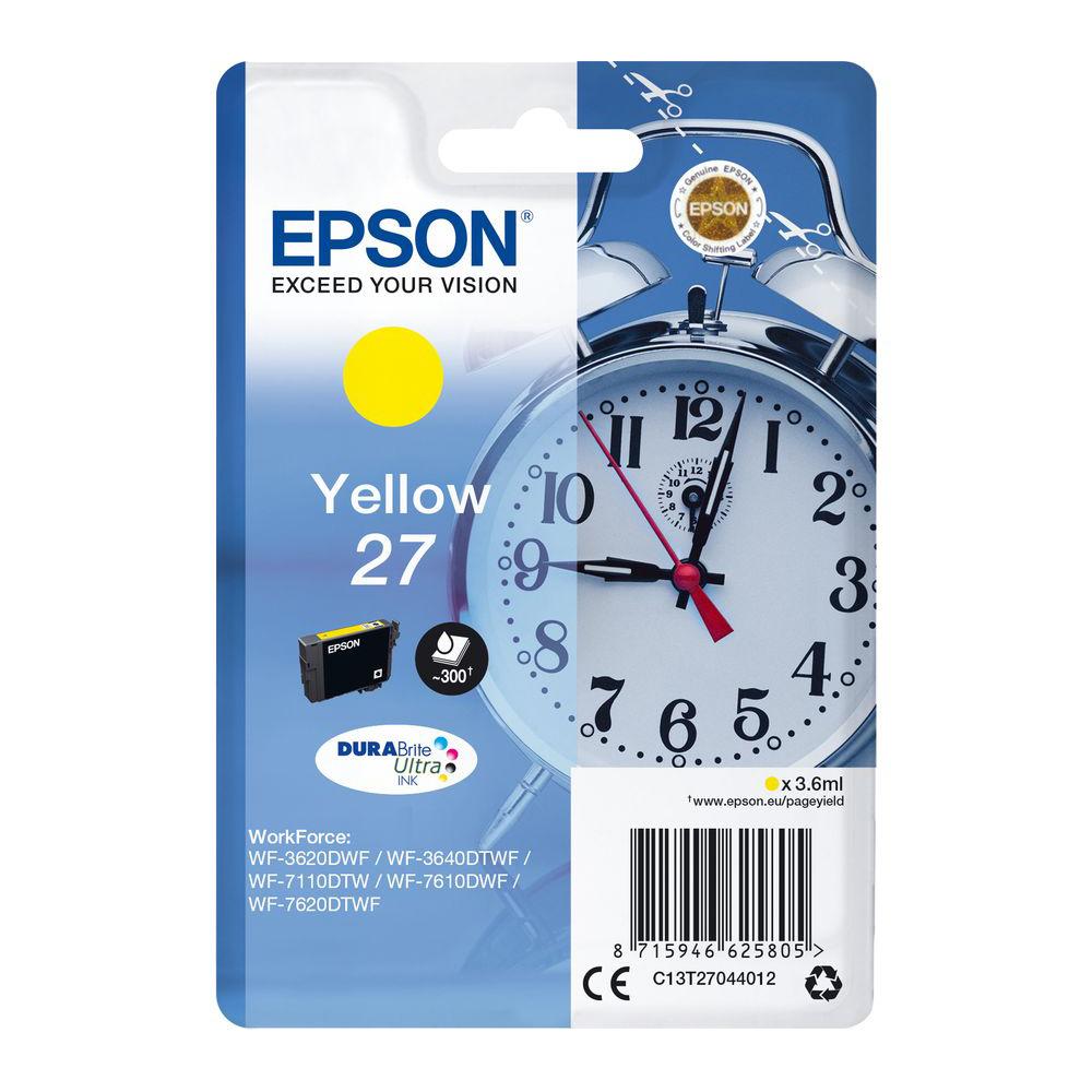 Epson 27 Ink Cartridge (T2704) - Yellow
