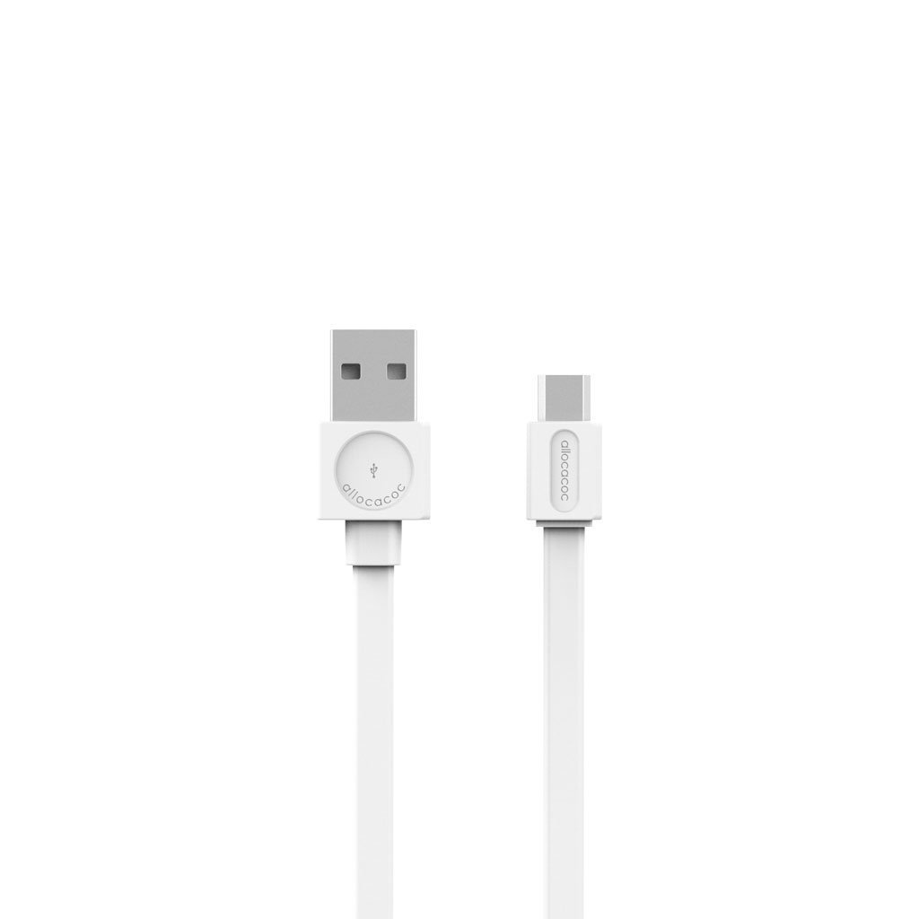 Allocacoc 10452WT USB Cable microUSB Basic - White (pc)