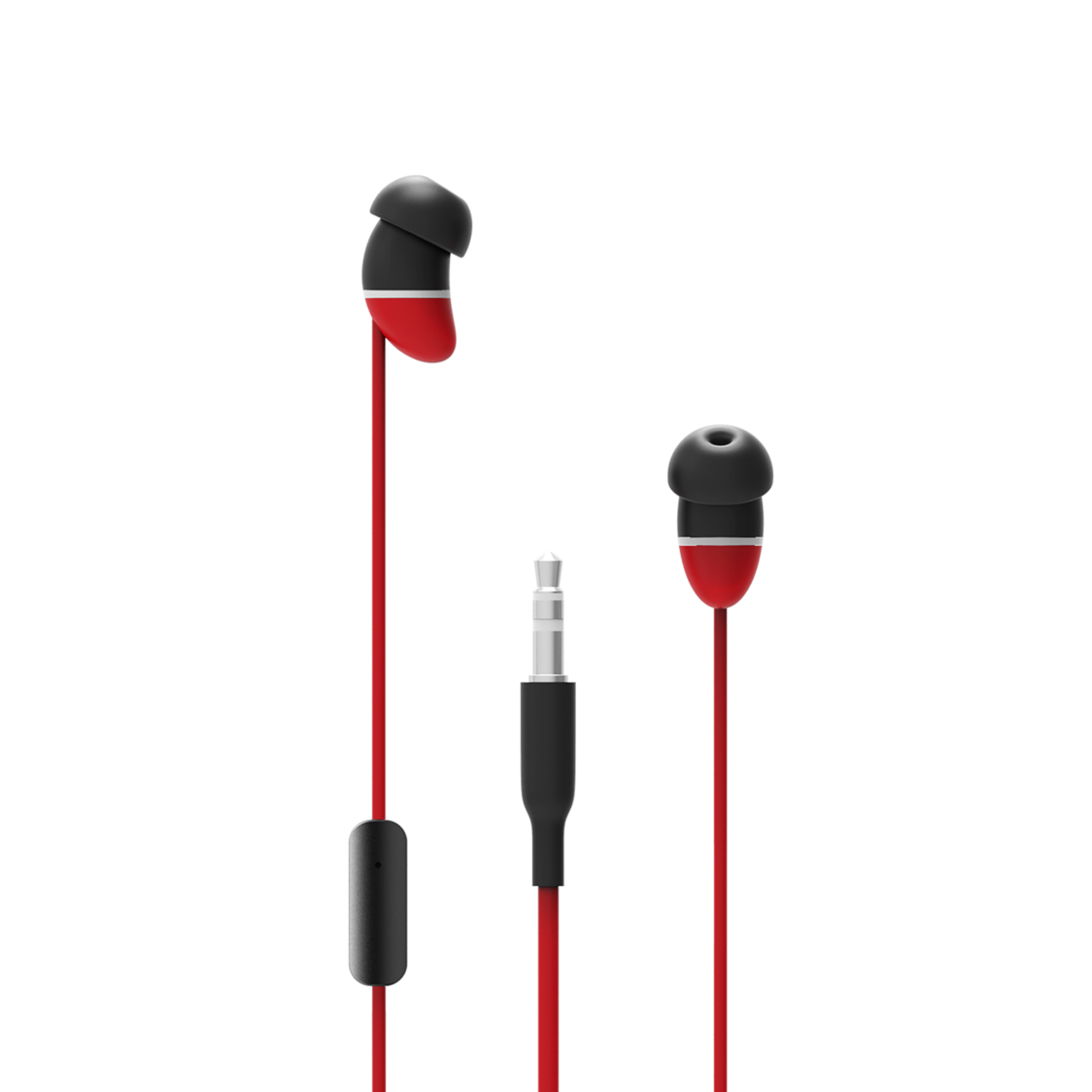 Allocacoc 10815RD EarBeans Bass AUX with Mic - Red (pc)