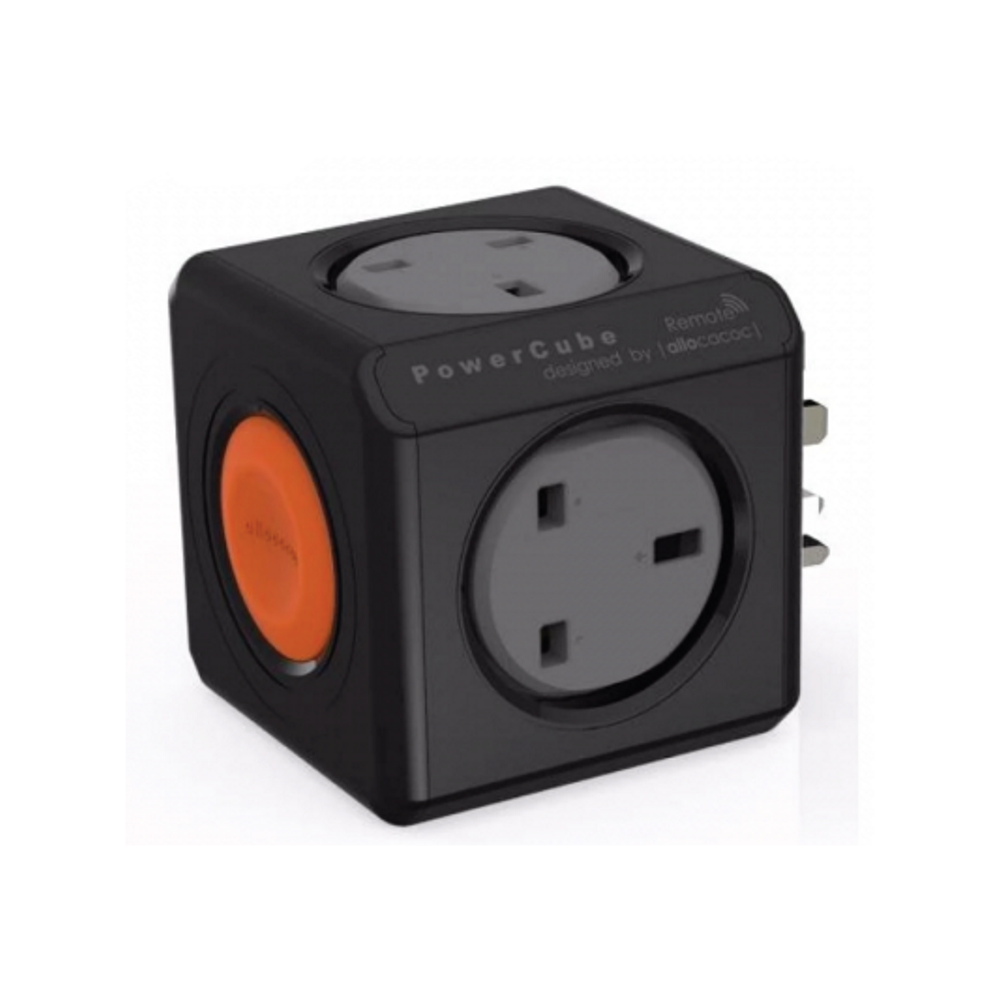 Allocacoc 1531BK PowerCube Original Remote Single UK - Black (pc)