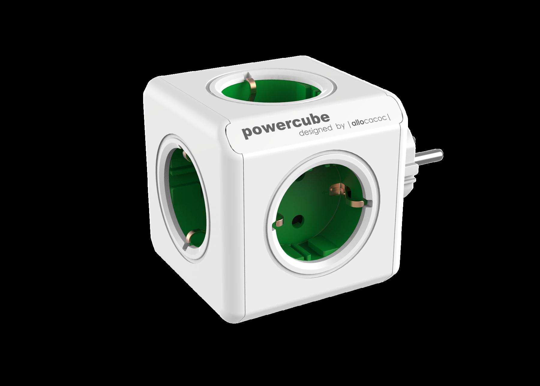 Allocacoc 7100GN PowerCube Original UK - Green (pc)