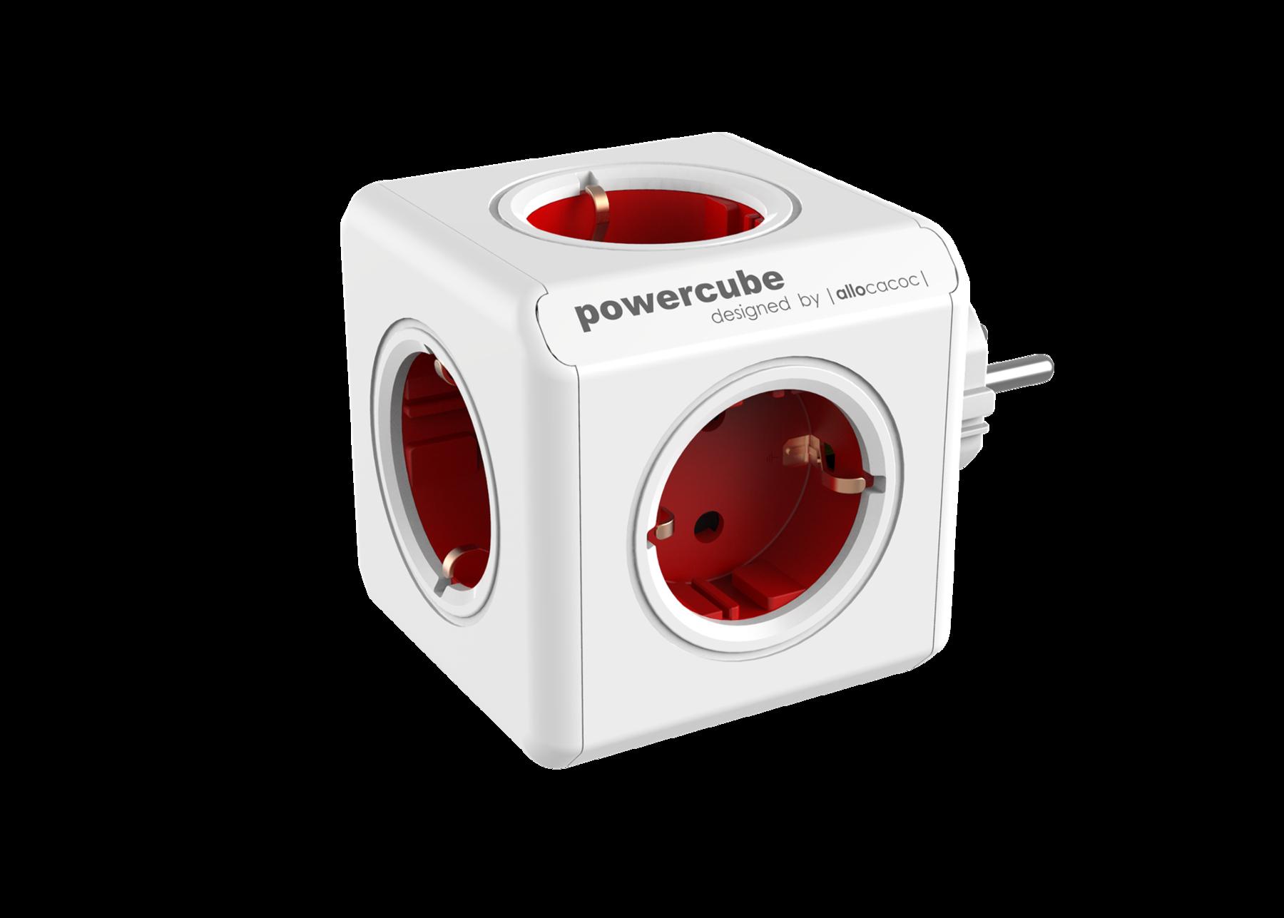 Allocacoc 7100RD PowerCube Original UK - Red (pc)