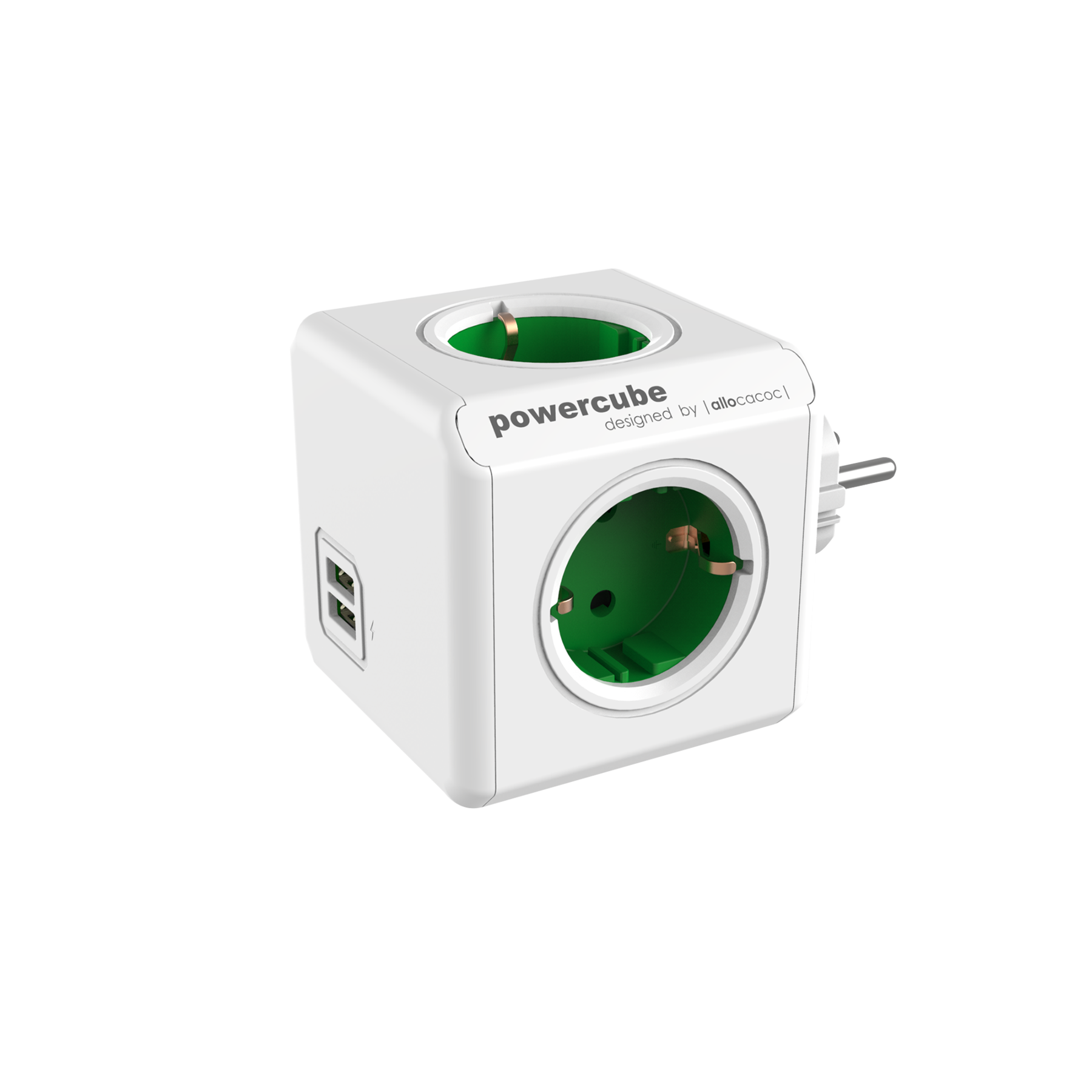 Allocacoc 7200GN PowerCube Original USB UK - Green (pc)
