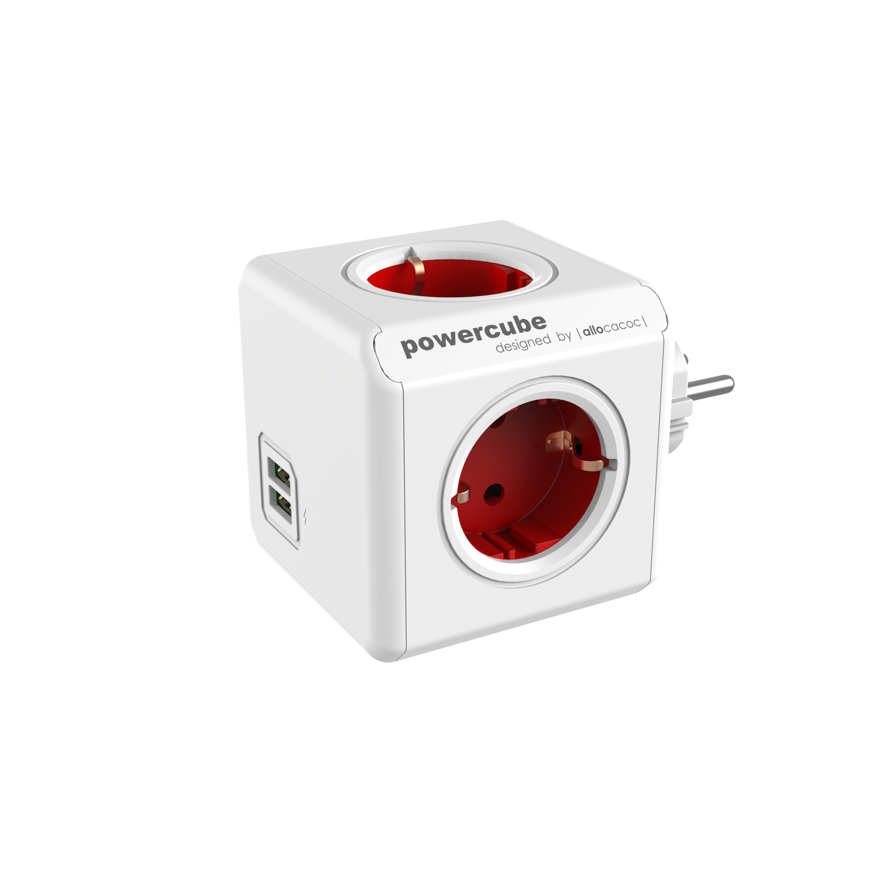 Allocacoc 7200RD PowerCube Original USB UK - Red (pc)