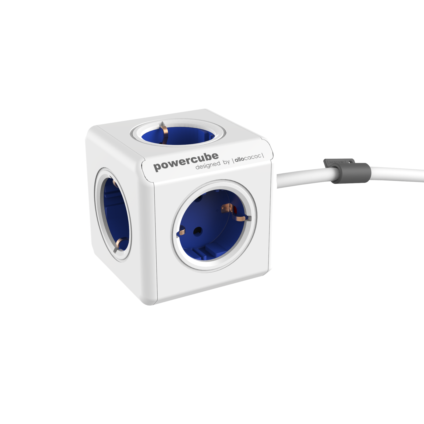 Allocacoc 7300BL PowerCube Extended UK - Blue (pc)