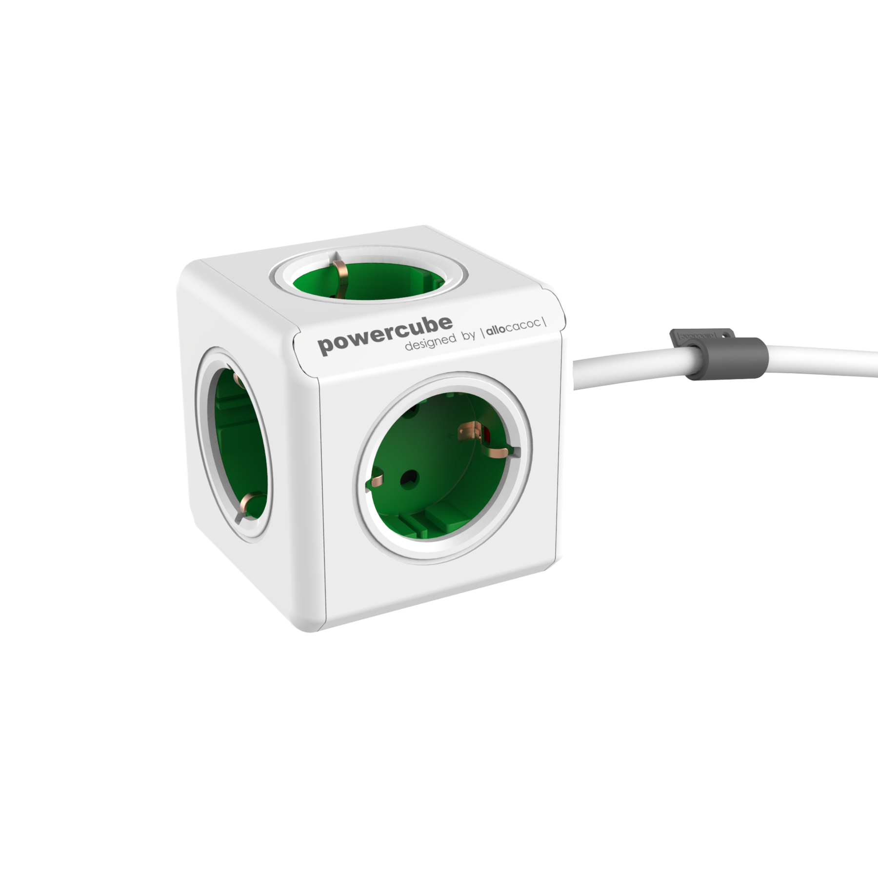 Allocacoc 7300GN PowerCube Extended UK - Green (pc)