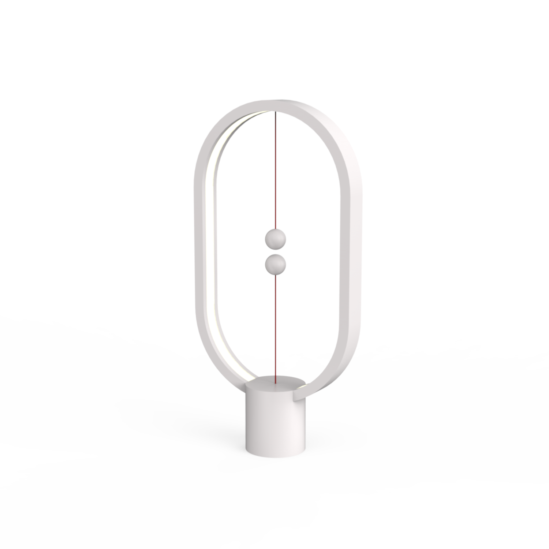 Allocacoc DH0040WT Heng Balance Plastic Lamp Ellipse USB - White
