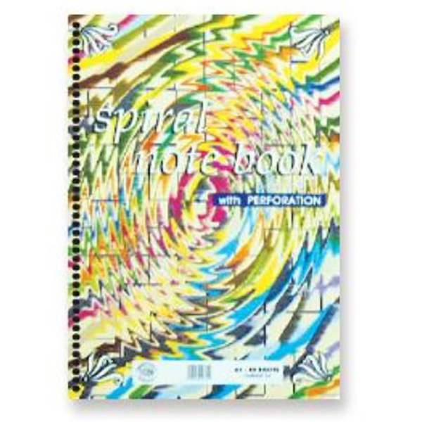 FIS Left Side Spiral Single-Ruled Notebook w/ Perforation 80 sheets FSNBA4JF116 - A4 (pc)