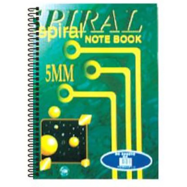 FIS Left Spiral Ruled Notebook 80 Sheets FSNBA4JF113 - A4 (pc)