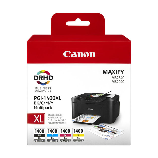 Canon Maxify 1400 Combo Pack Ink Cartridge - Black/Cyan/Magenta/Yellow