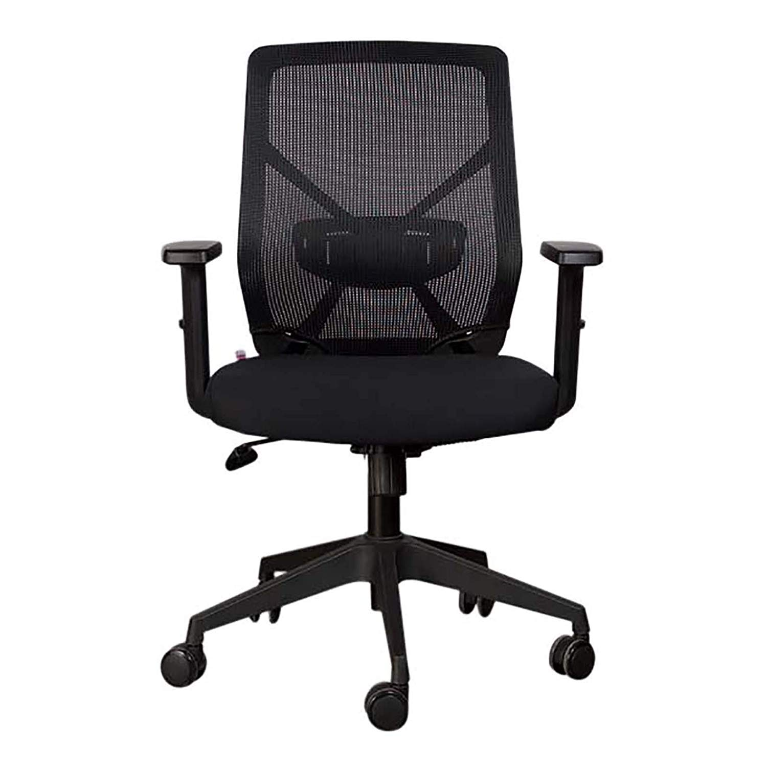 Mahmayi Sleekline 1651A Low Back Mesh Chair - Black (pc)