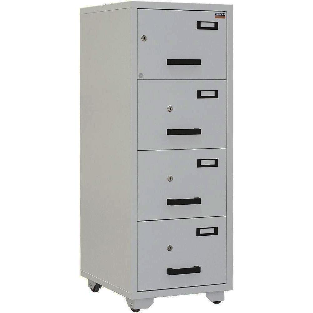 Valberg FC 4K-KK 4-Drawer Fire Resistant Filing Cabinet