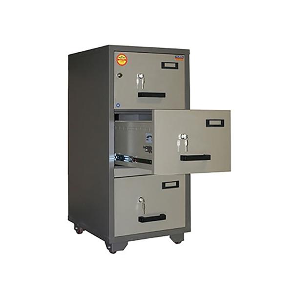Valberg FC 3K-KK 3-Drawer Fire Resistant Filing Cabinet