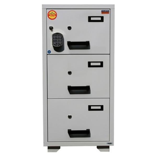 Valberg FC 3E-KK 3-Drawer Fire Resistant Filing Cabinet