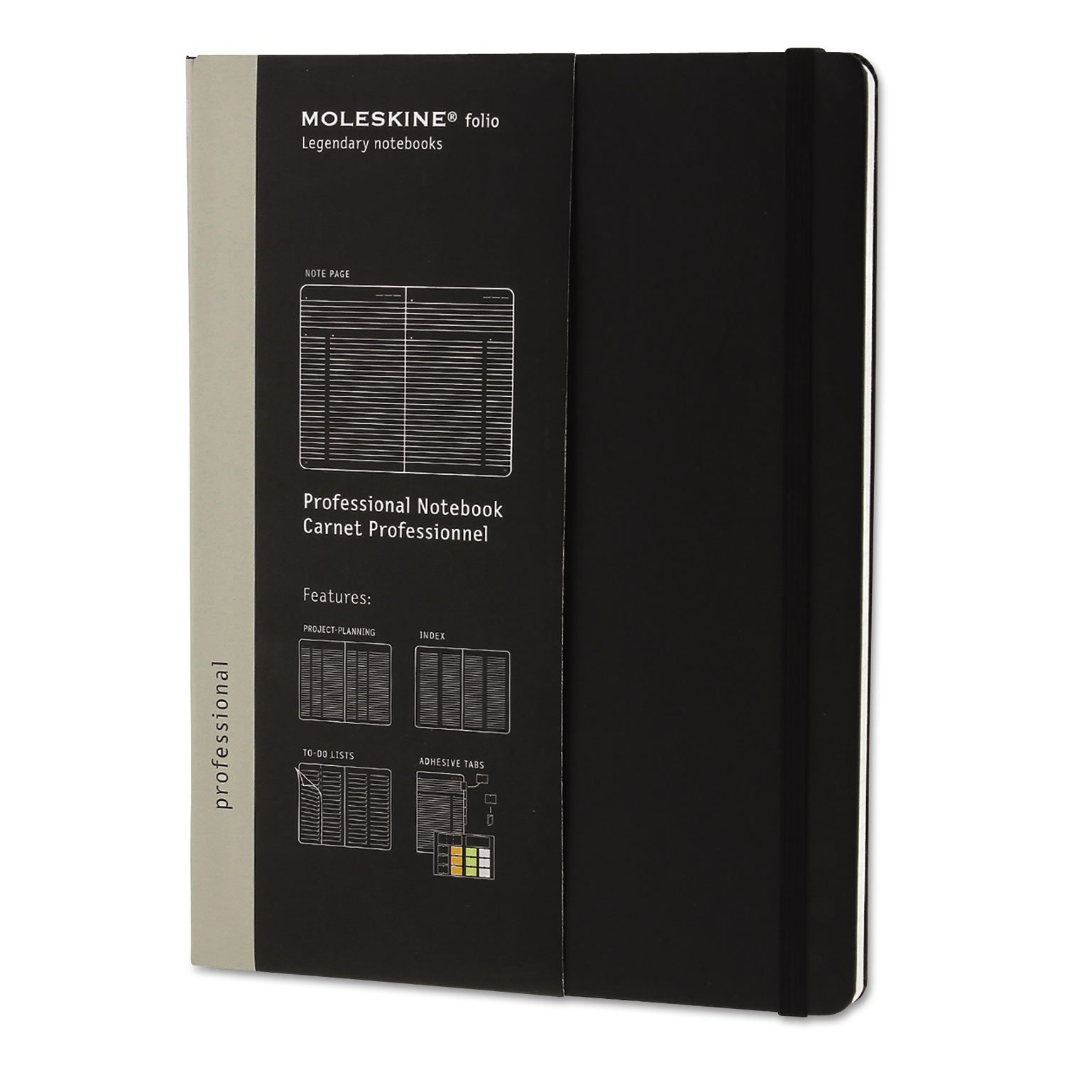 Moleskine Professional Notebook Extra Large Hard Cover (ME-PROPFNT4HBK) - Black (pc)